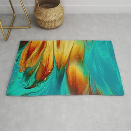 Abstract Colorful Paint III Rug