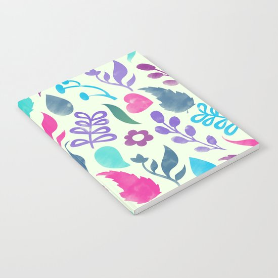 Watercolor Floral Pattern III Notebook