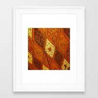 batik Framed Art Prints featuring batik  by customgift