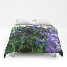 Abstracted Purple Petunias Comforters