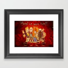 The Big Four of Thrash Metal!  Framed Art Print