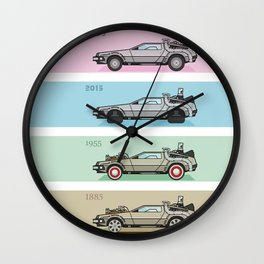 Time Machine - Back to the Future Wall Clock