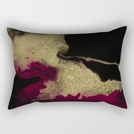 Black Honey - resin abstract painting Rectangular Pillow