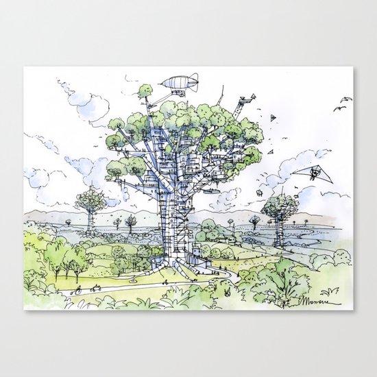 La Citta Arborea! Canvas Print