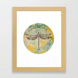 Dragonfly - Transformation, Joy and lightness Framed Art Print