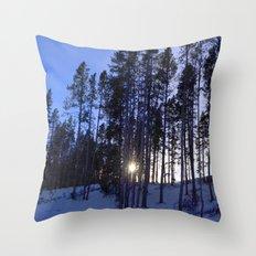 Light Through the Aspens Throw Pillow
