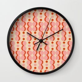 Uende Love - Geometric and bold retro shapes Wall Clock
