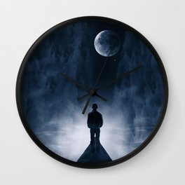 Blue Dream Night Wall Clock