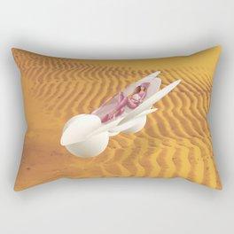 Time Bunny girl Rectangular Pillow