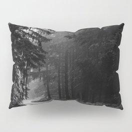 The Dark Path (Black and White) Pillow Sham