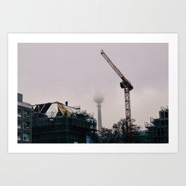 Fog over Berlin Art Print