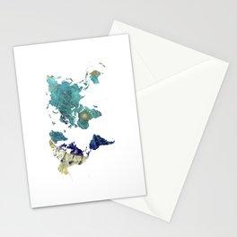 World Map Wind Rose Stationery Cards