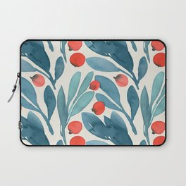 Winter Berries Botanical Pattern Laptop Sleeve