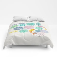 A Serene Succulent Underwater World Comforters