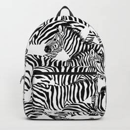 Zebra texture, animal safari. Backpack