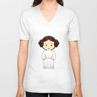 leia V-neck T-shirts featuring leia by Jasmine Victoria