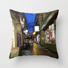 Street In Bath Throw Pillow