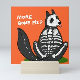 Skeleton  doggie  Mini Art Print
