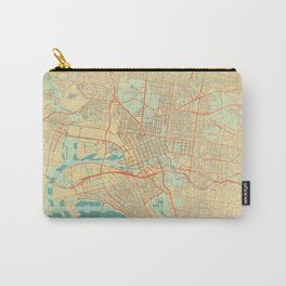 Melbourne Map Retro Carry-All Pouch