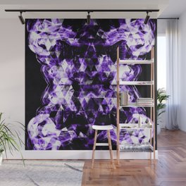 Electrifying ultra violet purple sparkly triangle flames Wall Mural