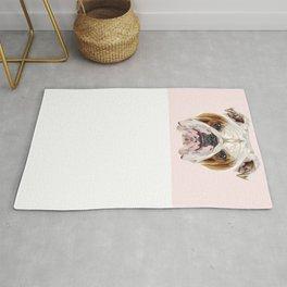 English Bulldog // Pastel Pink Rug