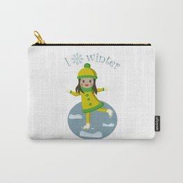 Girl on skates Carry-All Pouch