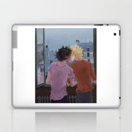 Enjolras, Grantaire and twilight over Paris Laptop & iPad Skin