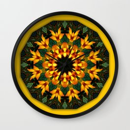 Iris 002.8, Floral mandala-style Wall Clock