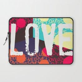 Valentines LOVE funky 1 Laptop Sleeve