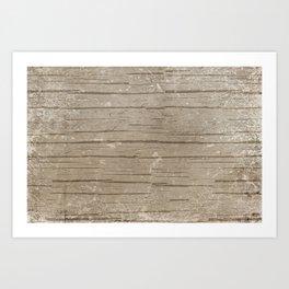 Nautical Driftwood Wood Grain Pattern Art Print