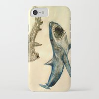 sharks iPhone & iPod Cases featuring Sharks by Jen Hallbrown