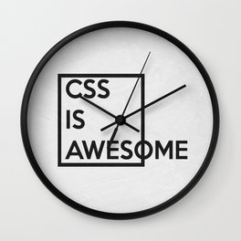 CSS is Awesome Wall Clock