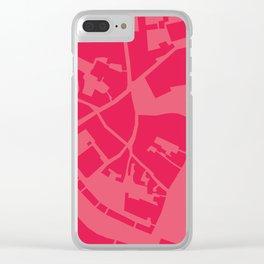 Vilnius map pink Clear iPhone Case