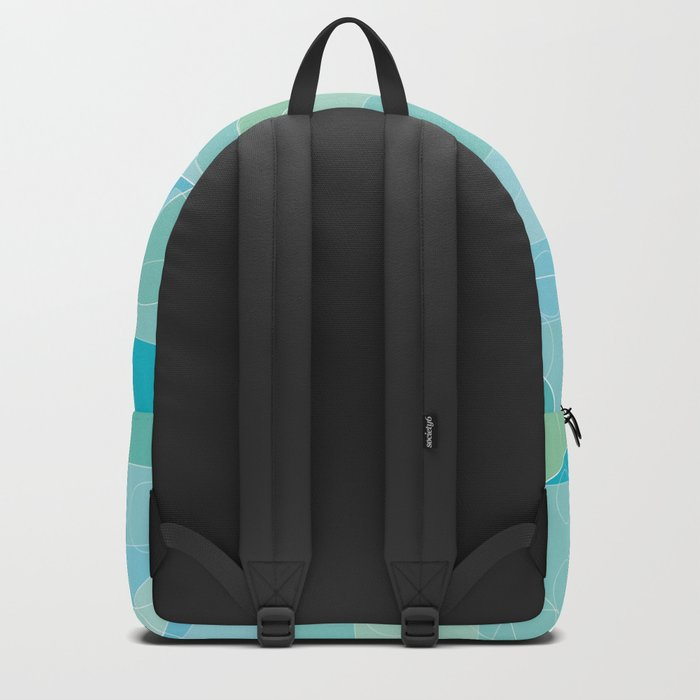 Abstract Ocean Waves Graphic Art Backpack