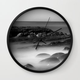 Another Dimension geological formations Bowling Ball Beach Wall Clock
