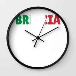 Brescia Italy flag holiday gift Wall Clock