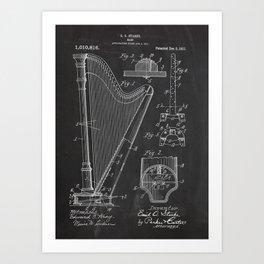 Harp Patent Art Print