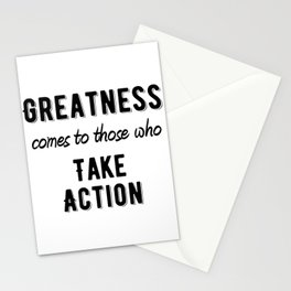 Inspirational - Take action Stationery Cards