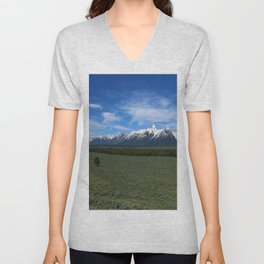 Beautiful Wyoming Landscape Unisex V-Neck