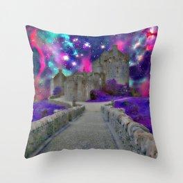 Space Castle Throw Pillow