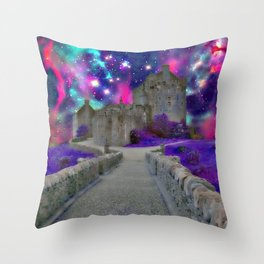 Space Castle Throw Pillow