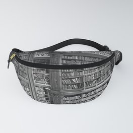 A book lovers dream - Cast-iron Book Alcoves Cincinnati Library black and white photography Fanny Pack