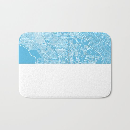 El Paso map blue Bath Mat