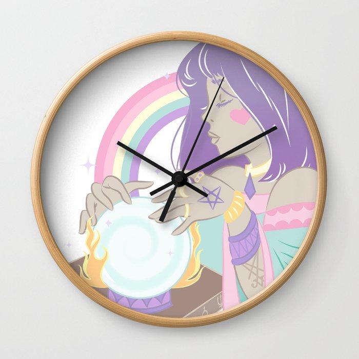 A Fire and Brimstone Future Wall Clock