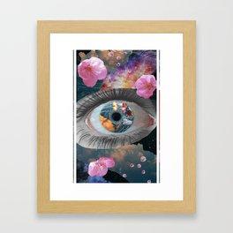 crazy eye Framed Art Print