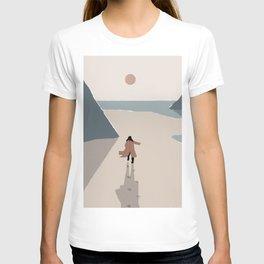 Woman Running towards the Sun T-shirt