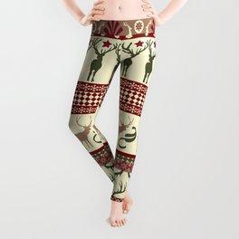 Classic Reindeer Ugly Sweater Leggings