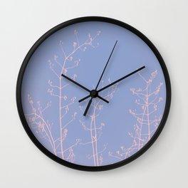 Serenity of Rose Jasmine Wall Clock