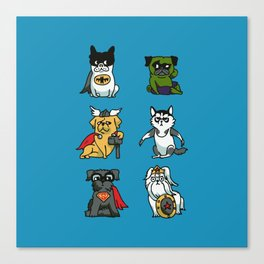Superhero Puppies Canvas Print