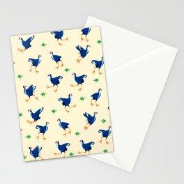Pukeko swamp hen pattern Stationery Cards
